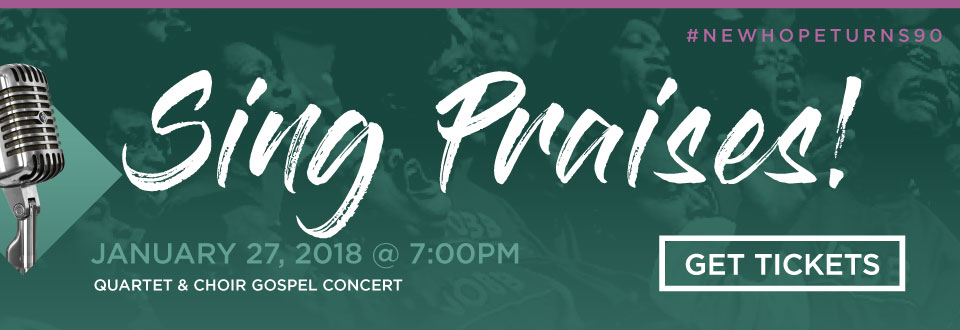 Sing Praises! Quartet and Choir Gospel Concert - January 27, 2018 at 7:00pm - Buy Tickets Now $20 in advance, $25 at the door!